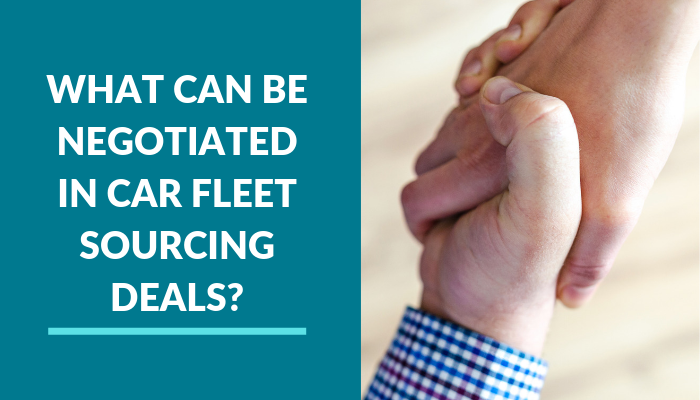 What Can Be Negotiated in Car Fleet Sourcing Deals?